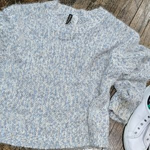 🥰 Fuzzy Chunky Knit Sweater pastel colors